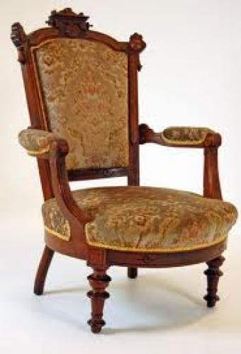A Walnut Armchair Antique
