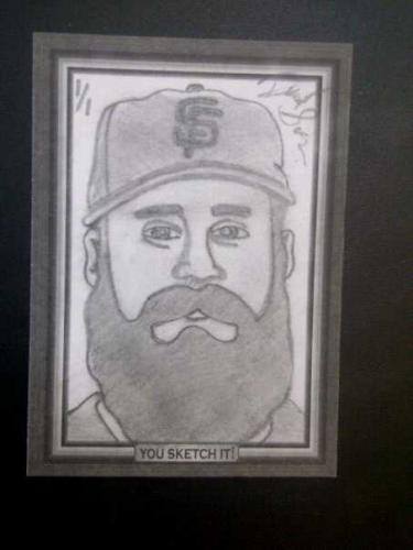 2010 Brian Wilson Sketch card 1/1
