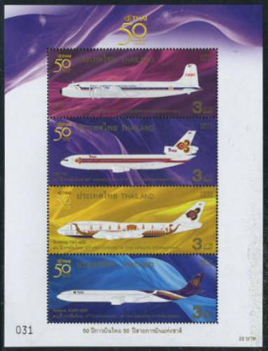 50 Years Thai airways 4v m/s