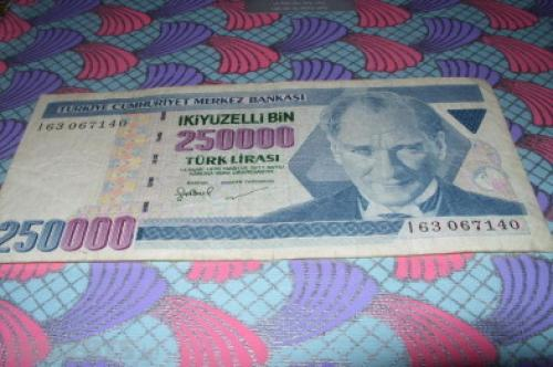 Turkey-250,000 liras-1970/98/2000