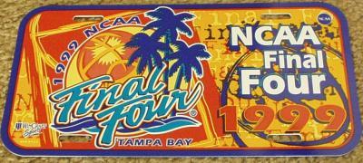 1999 NCAA Final Four (UConn) license plate