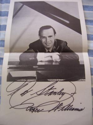 Roger Williams autographed black & white photo