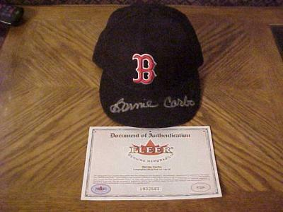 Bernie Carbo autographed Boston Red Sox authentic game model cap