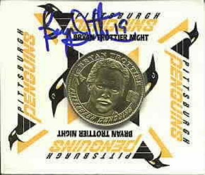 Bryan Trottier autographed Pittsburgh Penguins 1998 Bryan Trottier Night medallion