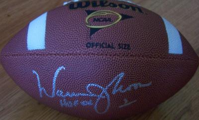 Warren Moon autographed Wilson NCAA football