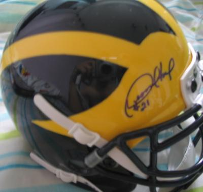 Desmond Howard autographed Michigan Wolverines mini helmet