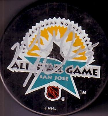Mike Modano autographed 1997 NHL All-Star Game puck