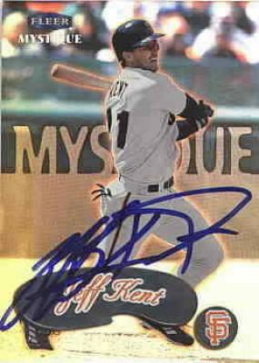 Jeff Kent autographed San Francisco Giants 2000 Fleer card