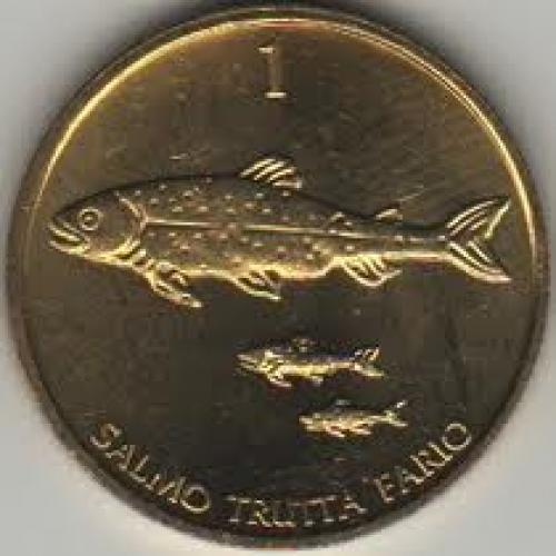 Coins; Slovenia 1 Tolar 1998