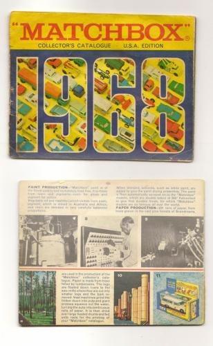 1968 Matchbox Catalog