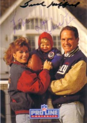Frank Gifford & Kathie Lee Gifford autographed 1992 Pro Line card