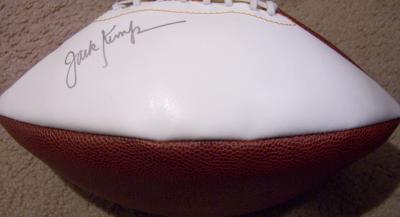Jack Kemp autographed white panel football