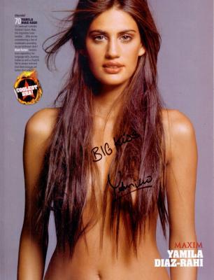 Yamila Diaz-Rahi autographed Maxim magazine full page sexy photo