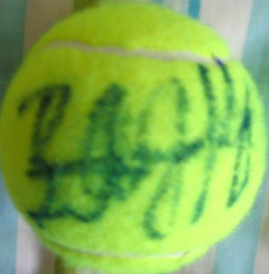 Billie Jean King autographed tennis ball