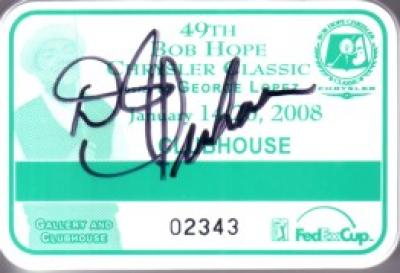 D.J. Trahan autographed 2008 Bob Hope Chrysler Classic clubhouse badge