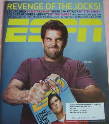 Matt Leinart autographed 2007 ESPN Magazine