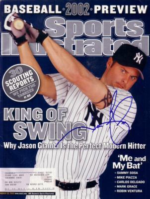 Jason Giambi autographed New York Yankees 2002 Sports Illustrated
