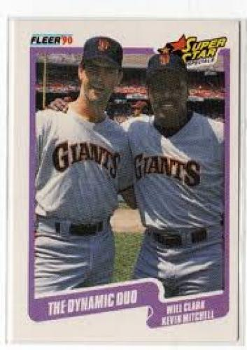 Baseball Card; Dynamic Duo Clark & Mitchell #637 Fleer 90