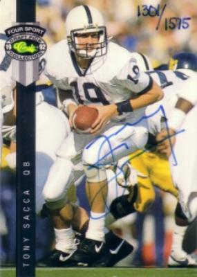 Tony Sacca certified autograph 1992 Classic Penn State card