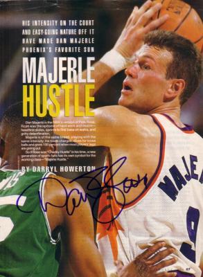 Dan Majerle autographed Phoenix Suns magazine photo