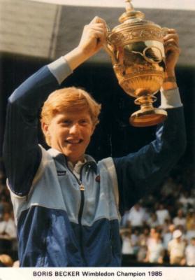 Boris Becker 1985 Wimbledon Champion postcard