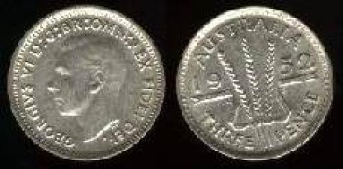 3 pence; Year: 1949-1952; (km 44); no IND:IMP