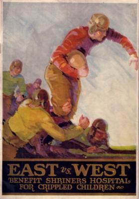 1930 East West Shrine Game football program (Jack Cannon Dutch Clark Bronko Nagurski Roy Riegels)