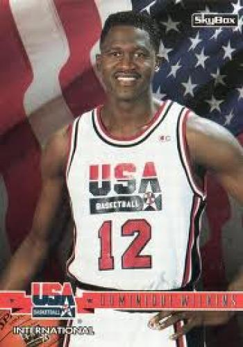 Basketball Card;  Dominique Wilkins olympic basketball card