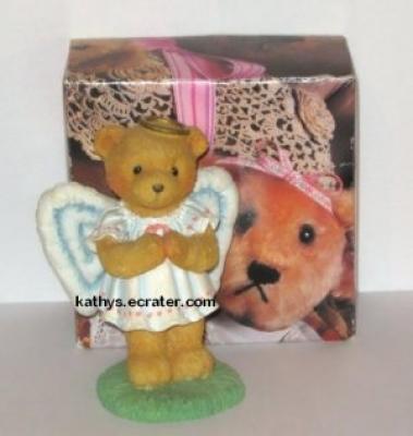 Hamilton Cherished Teddies Angel 1992 Angie Bear Animal Figurine