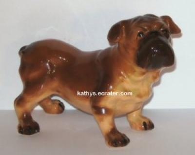 Nippon Japan Brown Bulldog Dog Animal Figurine