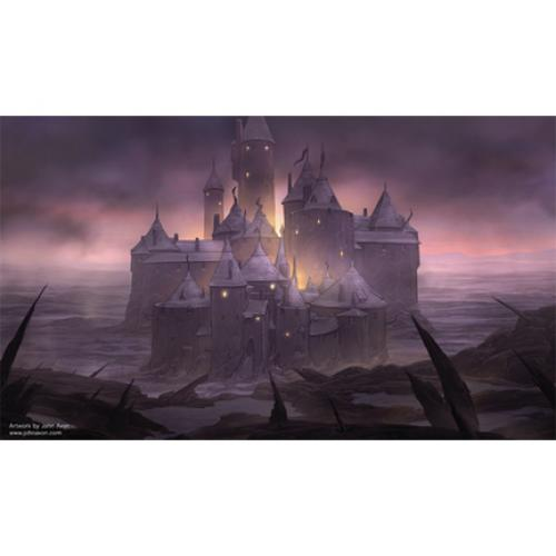 MTG Artists Of Magic Playmat DARK CASTLE Autographed by the Artist John Avon