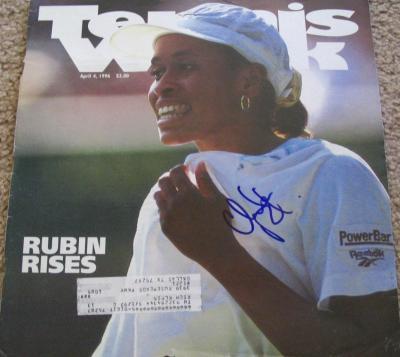 Chanda Rubin autographed 1996 Tennis Week magazine cover