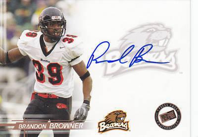 Brandon Browner certified autograph Oregon State 2005 Press Pass card