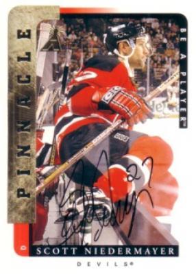 Scott Niedermayer certified autograph New Jersey Devils 1997 Be A Player card