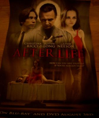 After Life 2010 movie poster (Justin Long Liam Neeson Christina Ricci)