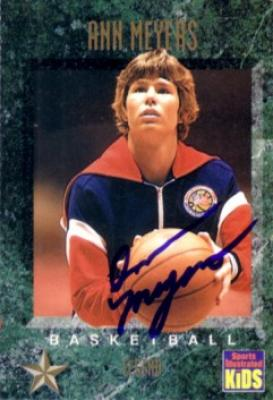 Ann Meyers autographed 1994 Sports Illustrated for Kids card