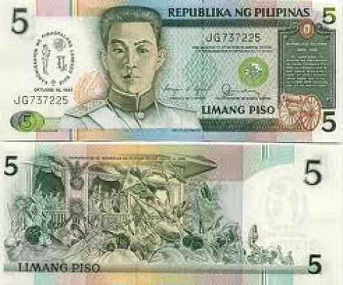 Philippines 5 Piso 1987 - Philippine Bank Notes