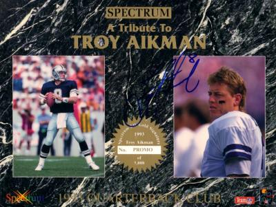 Troy Aikman autographed Dallas Cowboys 1993 8x10 photo card