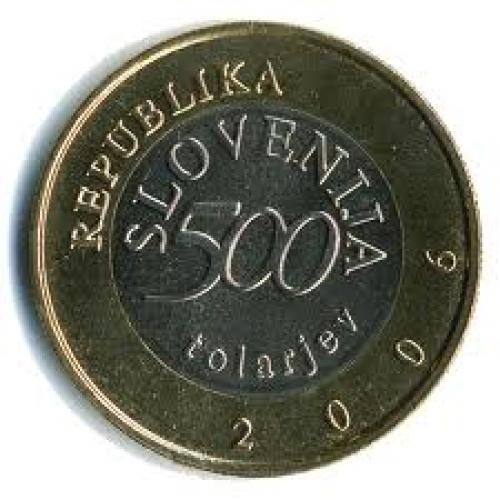 Coins; Slovenia_500 tolarjev ; front image