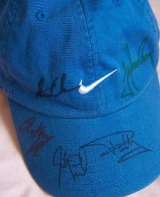 Paul Casey Stewart Cink Trevor Immelman Anthony Kim Justin Leonard autographed Nike cap