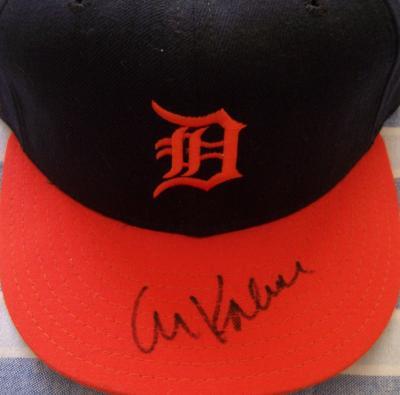 Al Kaline autographed Detroit Tigers game model cap