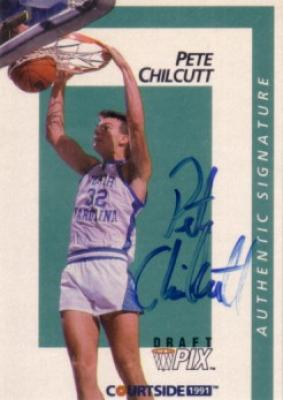 Pete Chilcutt certified autograph North Carolina 1991 Courtside  card