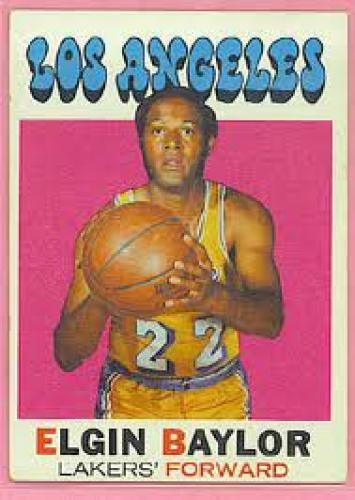 Basketball Card;  Elign Baylor Lakers HOF'ER 71-72 Topps Vintage