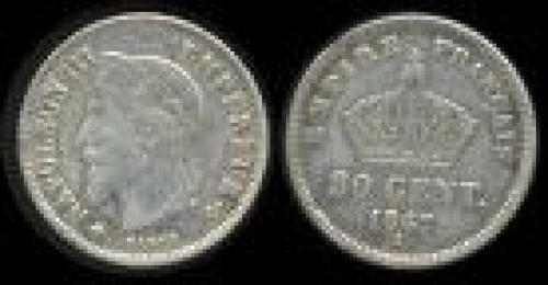 20 centimes; Year 1867-1869; (km 808)