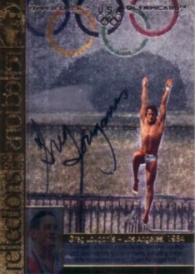 Greg Louganis (diving) certified autograph 1996 U.S. Olympic card