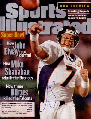 John Elway autographed Denver Broncos Super Bowl 33 Sports Illustrated