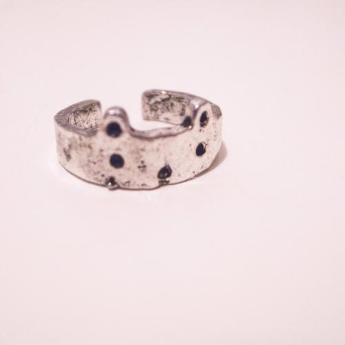 Cute Vintage Style Silver Bear Face Ring / Cat Face Ring - Adjustable Ring