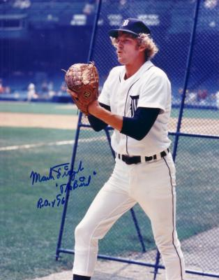 Mark Fidrych autographed 8x10 Detroit Tigers photo inscribed The Bird ROY 76