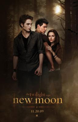 Twilight New Moon movie poster (Bella Edward & Jacob)