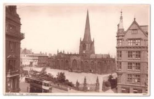 Here is a splendid sepia-toned picture postcard depicting Sheffield Cathedral U.K